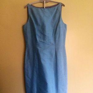 Vintage, Blue, Dresses, Ann Taylor